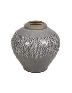 Jarrón de cerámica gris...