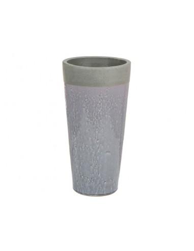 Jarrón de cerámica gris -...
