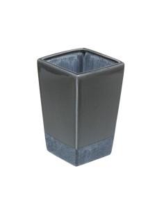 Jarrón cerámica color gris...