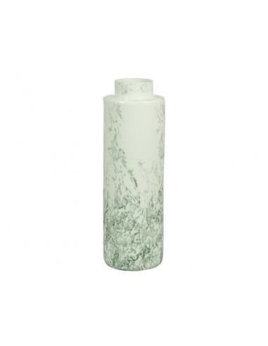 Jarrón cerámica blanco gris...