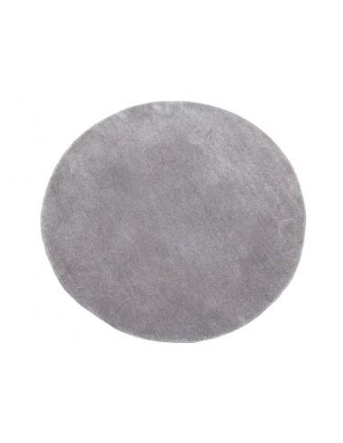 Alfombra redonda gris -...