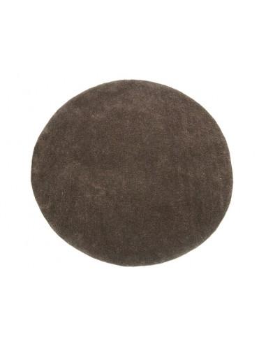 Alfombra redonda marrón -...