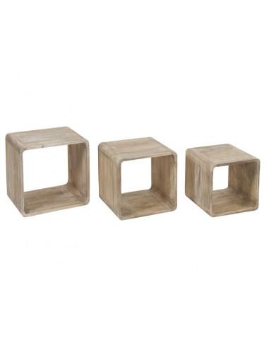 Set de 3 cubos madera -...