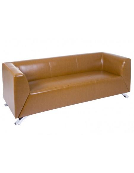 Sofá 3 plazas Elegant marrón - Ref.51621